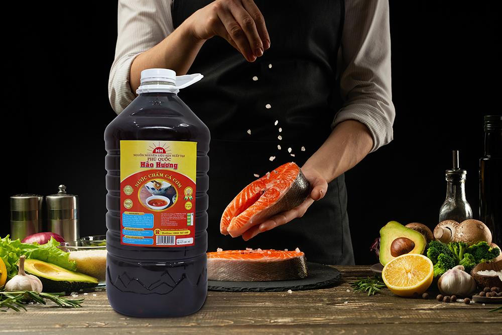 Nước chấm cá cơm Hảo Hương bình 5L - Protein 31g/l - Nhãn đỏ